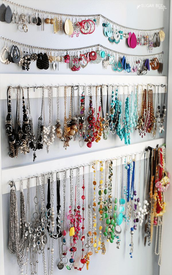 27 Brilliant Jewellery Organizer Ideen, die Spaß zur Organisation hinzufügen