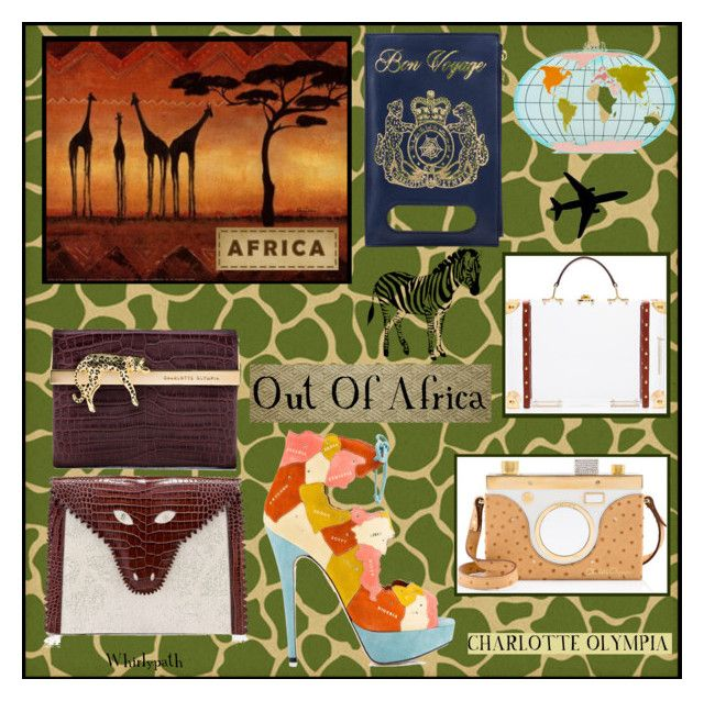 Out Of Africa! by whirlypath on Polyvore featuring Charlotte Olympia and Plane