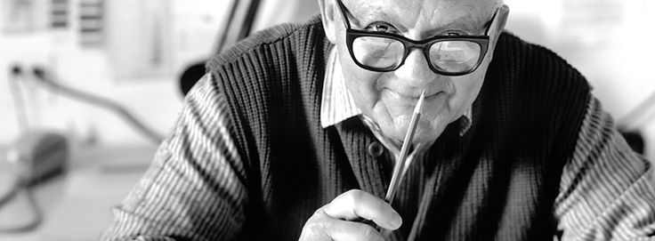 It is Paul Rand. I figured I can't pin all his great work, so instead I pinned him.