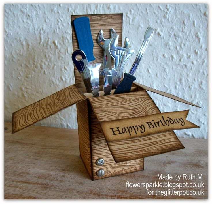 Tools, Birthday Box Card