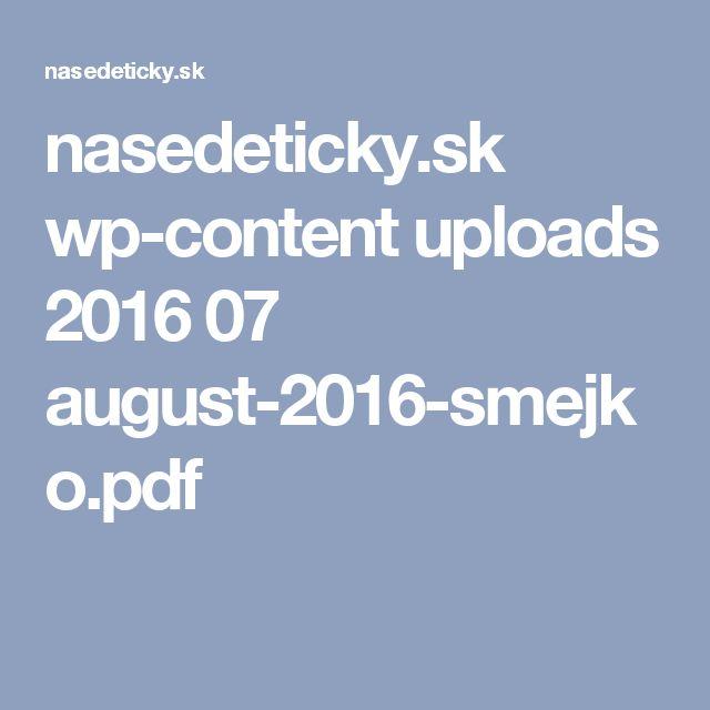 nasedeticky.sk wp-content uploads 2016 07 august-2016-smejko.pdf