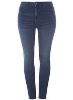 Womens **Juna Rose Curve Blue Slim Jeans- Blue