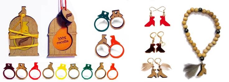 """Bagues Winter Power - Boucles et bracelets """"Cocotte à Plume"""" - Design Mops © Cocotte-Power"""