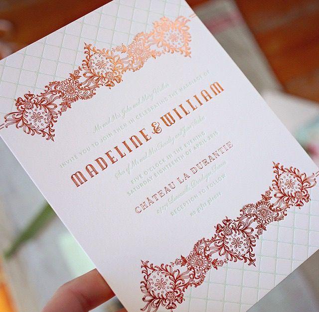 15 best letterpress business cards images on pinterest embossed copper foil reheart Choice Image