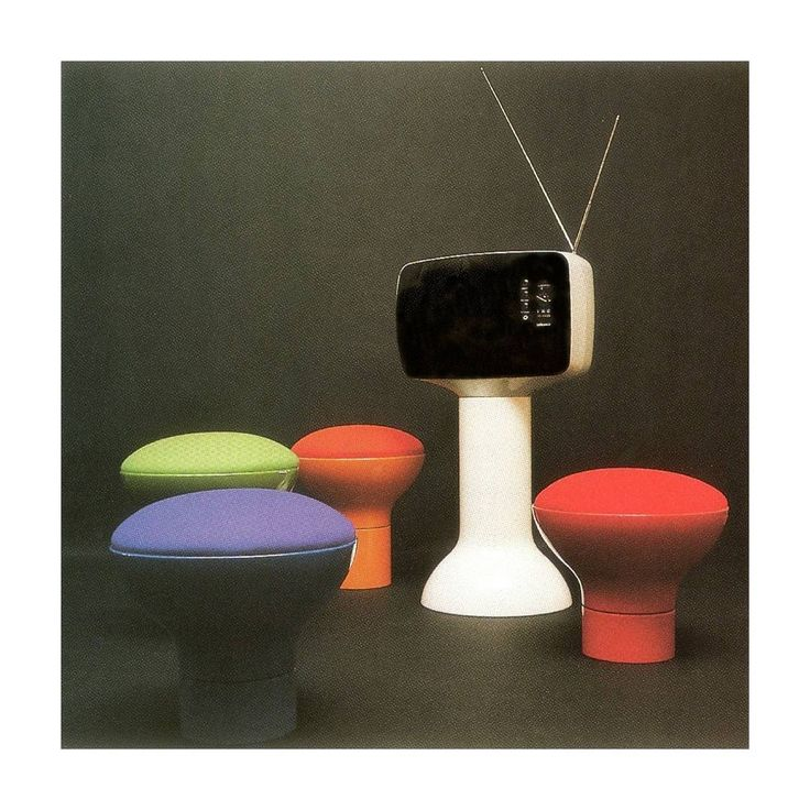 Television P111/Cryptogramme Stools, Roger Tallon
