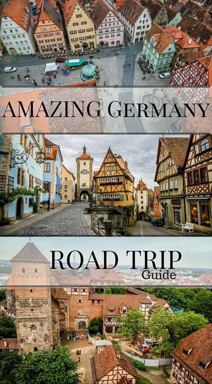 Amazing Germany road trip guide. ermany is an easy country to get round and it is no wonder why you are searching for a way to make your Germany road trip a reality. Renting a car in Germany is a great way to see the countryside and it will allow you to g