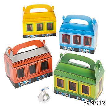 Mini Train Shaped Treat Boxes Things That Go Party