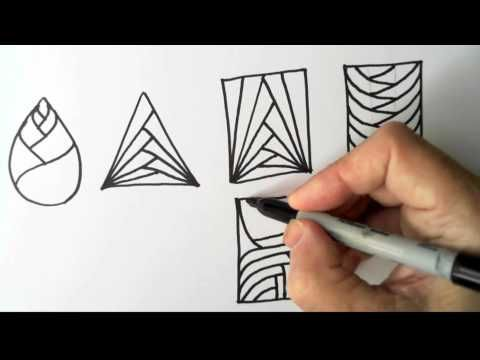 Freehand Space-filling Patterns 3: Straight Spirals (continued) - YouTube