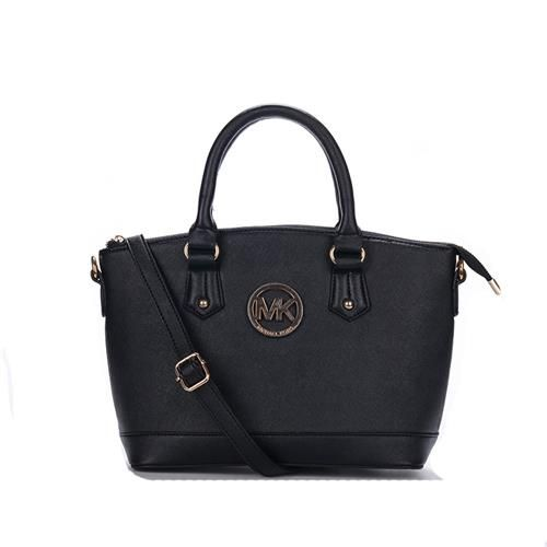 Michael Kors Bedford Logo Medium Black Totes