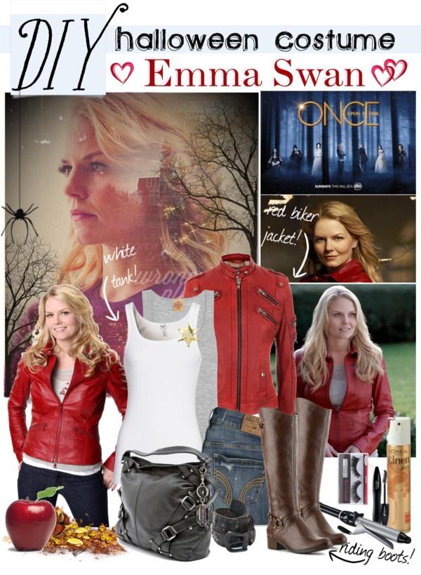 """DIY halloween costume: Emma Swan"" by gokarm ❤ liked on Polyvore"