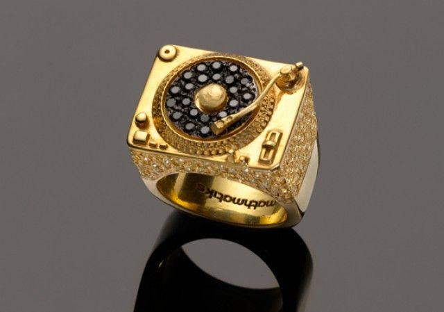 All Gold Turntable Ring Prototype 7 By Mathmatiks (@Mathmatiksnyc)