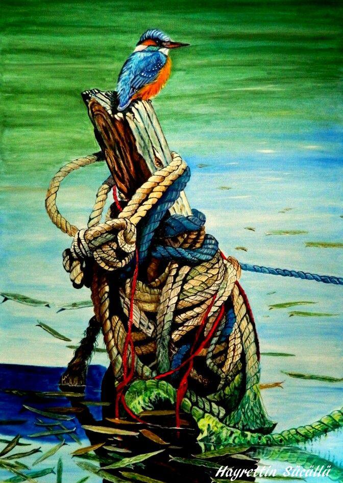 Hayrettin Sücüllü Tuval üzerine yağlı boya 70x50 Yalıçapkını