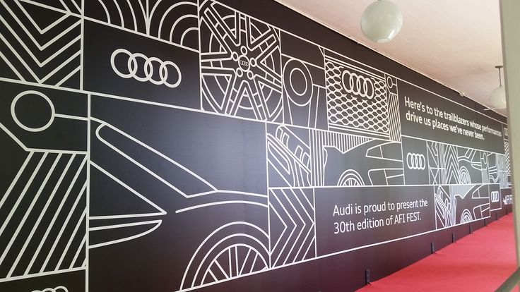 Audi, Black and White Step and Repeat. Custom Backdrop. Red Carpet Graphics.
