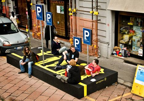 Person Parking, an urban intervention                                                                                                                                                                                 More