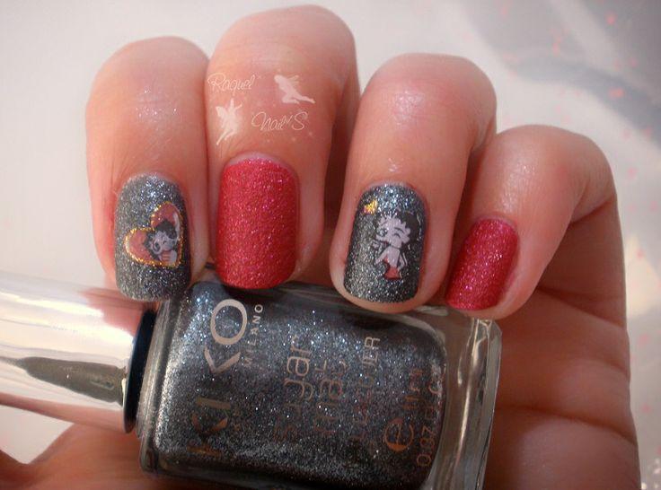 Reto Tipo de Esmaltes ~Arena~  453 Cherry Red 458 Anthracite Water decals Betty Boop