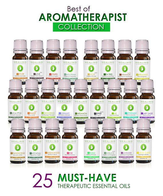 Essential oils set- SALE- Aromatherapist collection -  Aromatic healing oils- Aromatherapy starter kit - 25 x Therapeutic essential oils