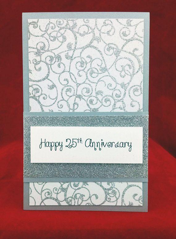 Handmade 25th Wedding Anniversary Card Anniversary Cards Handmade Wedding Anniversary Cards Anniversary Cards