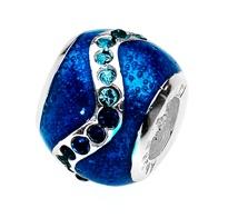 Amore & Baci 20403 blue enamel and zirconia bead