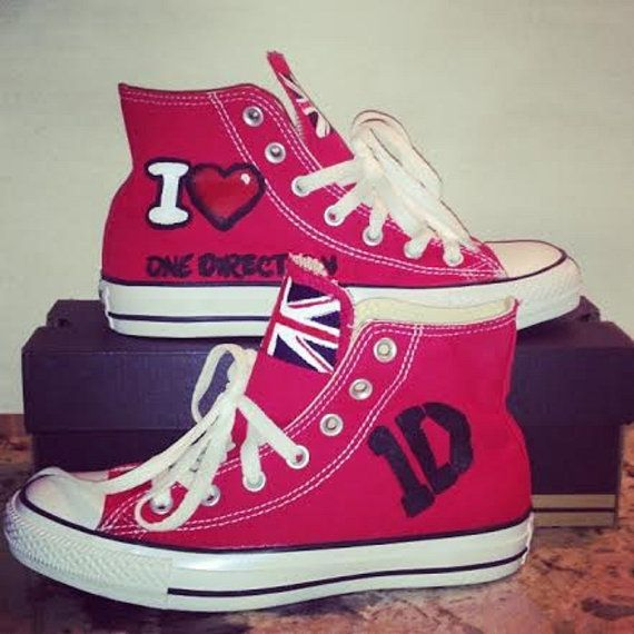 Custom One Direction Hand Painted Converse by CraftyMetoU on Etsy, $95.00