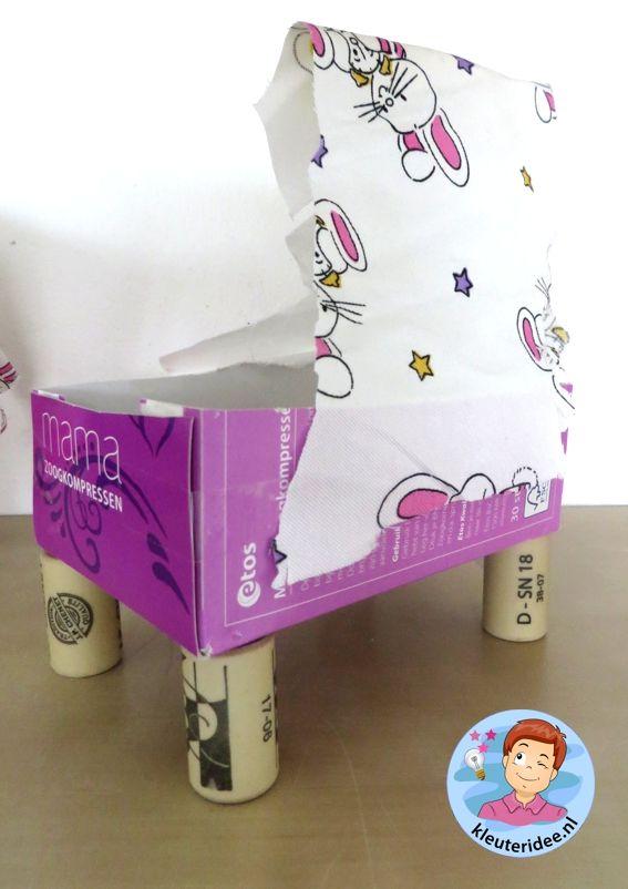 Wieg knutselen, thema baby voor kleuters, kleuteridee.nl, Kindergarten craft…