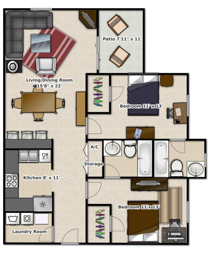 Floor Plans Tivoli Orlando Apartments in Orlando, Fl
