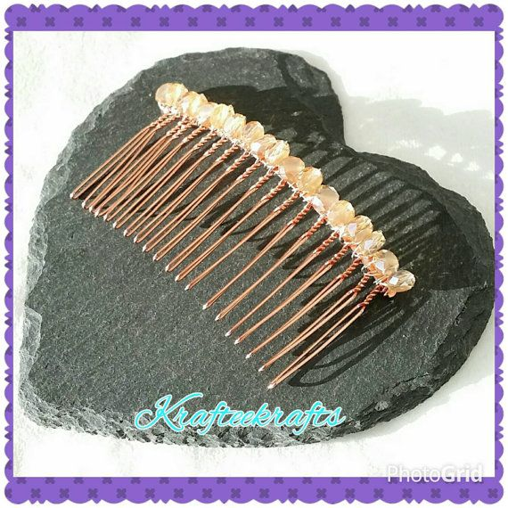 Check out this item in my Etsy shop https://www.etsy.com/uk/listing/234012398/peach-crystal-decorative-hair-comb-for