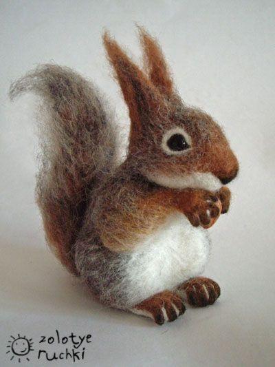 "NATALIA KUZNETSOVA - (artwool) --- ""Squirrel"" -- October 12, 2010 -- Handmade."