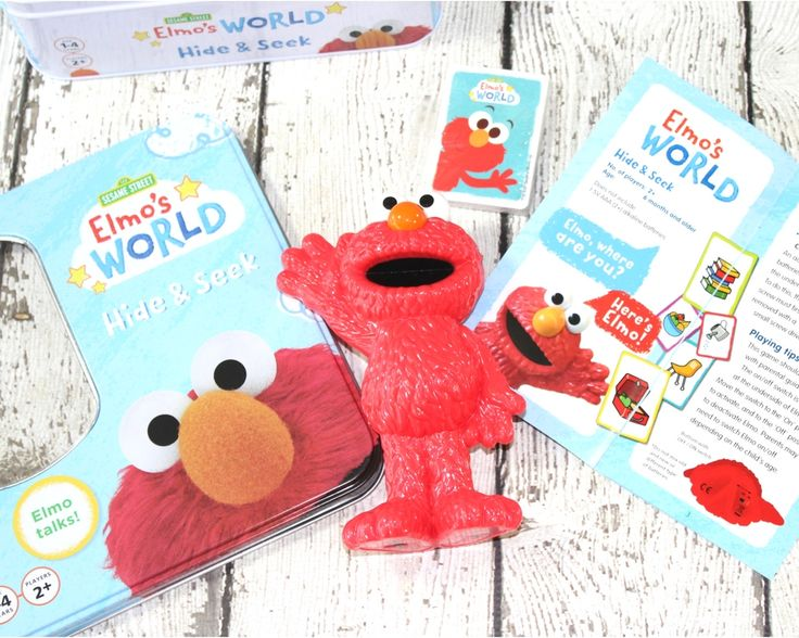 """A review by Emily Reviews: """"With this game, you can begin engaging babies as young as 6 months old by simply playing a game of peek-a-boo with Elmo and baby. You can do this by hiding the Elmo that is included under a blanket, reinforcing the notion that babies learn from peek-a-boo, learning that even though they can not see something that it is not gone. From there, as baby grows you can take that game of peek-a-boo into a new game of hide and seek where you can hide Elmo in nearby places…"""