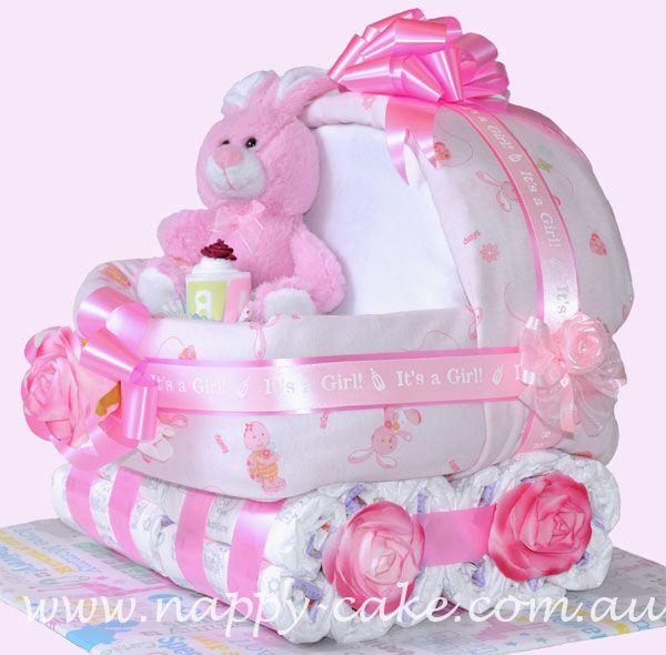 Diaper Cake Pattern | nappy cake for girls
