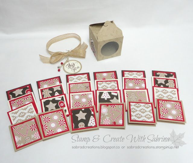 Stamp & Create With Sabrina: 2016 Holday Catalogue Sneak Peek - Boxed Christmas Gift Tags