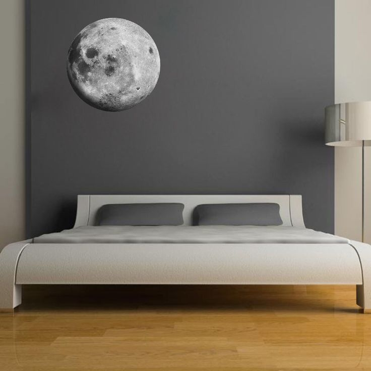 Moon Wall Decal Sricker, Peel and Stick Moon Wall Art Stickers Moon Wall Cling, Moon Wall Decal, Moon Wall Design, Realistic Moon Mural, c22 by PrimeDecal on Etsy https://www.etsy.com/listing/231610536/moon-wall-decal-sricker-peel-and-stick