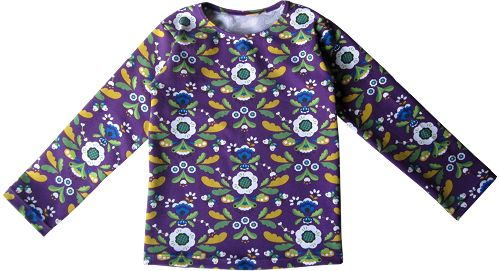 Tricot longsleeve in maat 56 t/m 170. Een eenvoudig t-shirt om te naaien, omdat boordstof en knoopjes achterwege blijven. Mater...