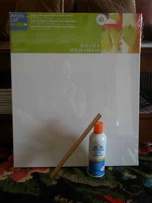How to put a poster on canvas and make it look like a canvas painting!