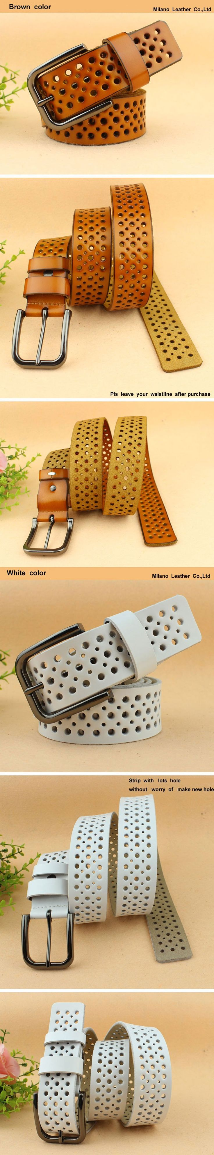 Genuine leather belt for women jean strip