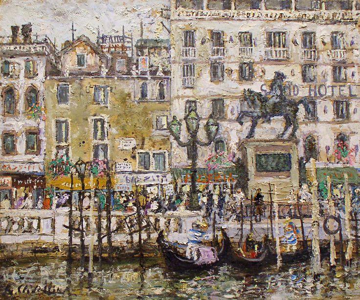 383 - Venezia - Lungo il Canal Grande - 50 x 60