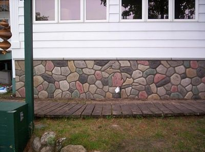 Should i parge a concrete foundation wall exterior cobble refacing the front of - Basement concrete wall ideas ...