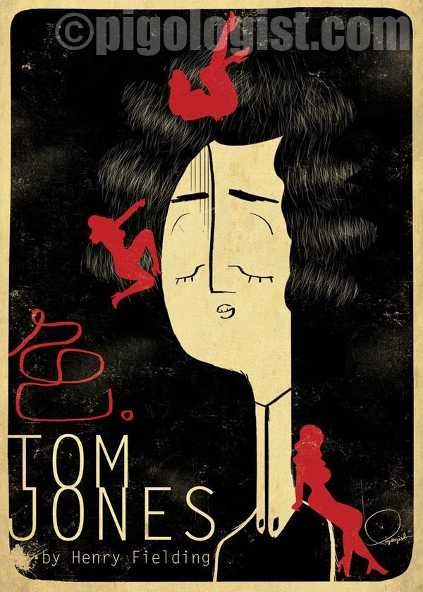 #illustration #design #art #vectorart #illustrator Pigologist's remake poster for Tom Jones by Henry Fielding for Doedemee – 100 book covers to fight illiteracy |