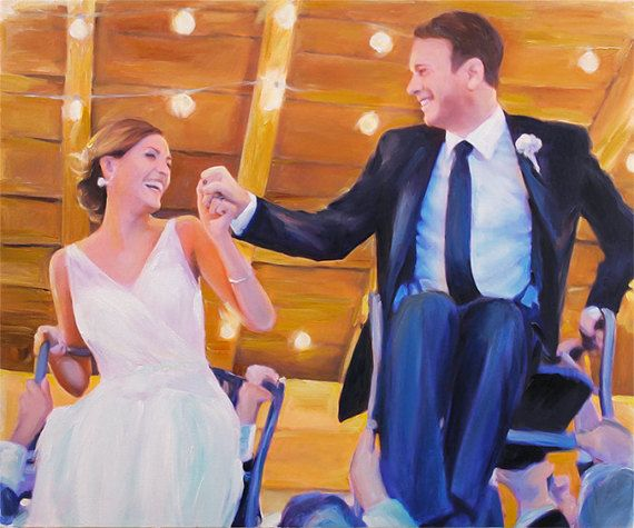 Custom Wedding Portrait from Photo Oil Painting on canvas Fine Art Christmas Gift Home Decor by AnastassiaArt Etsy