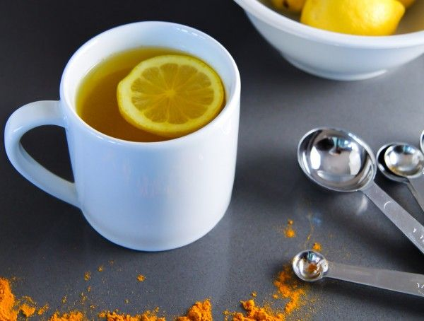 Miraculous Detox Drink With Warm Water, Lemon and Turmeric