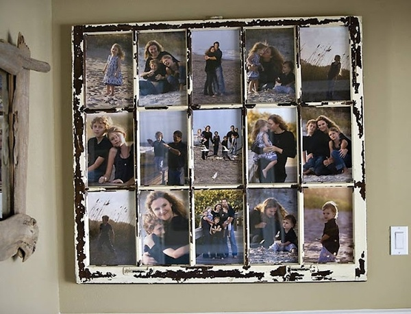 use old window: Decor, Old Window Frames, Ideas, Window Pictures, Old Windows, Window Panes, Picture Frames, Photo, Pictures Frames