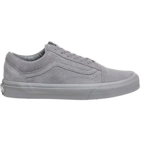 Vans supplied by Office Vans Old Skool Trainers (295 SAR) ❤ liked on Polyvore featuring shoes, sneakers, grey, lacing sneakers, lace up sneakers, vans shoes, vans footwear and vans sneakers