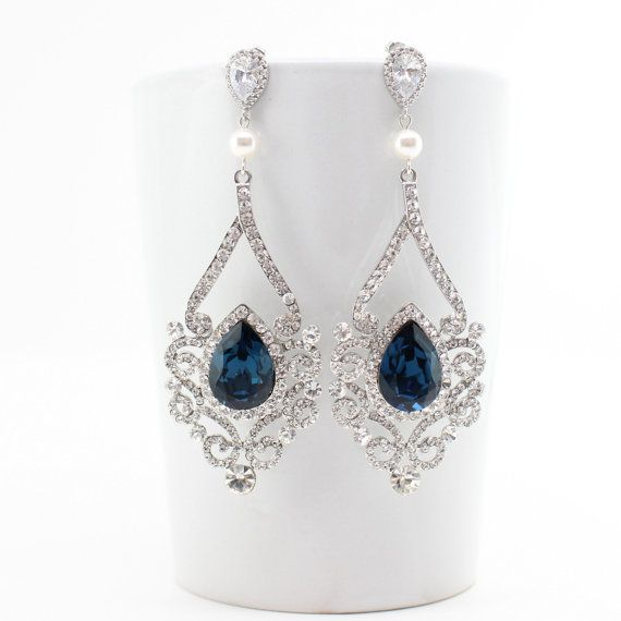 Victorian Style Bridal Swarovski Wedding Earrings By Estylo Jewelry