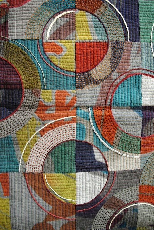 great way to quilt a drunkards path quilt