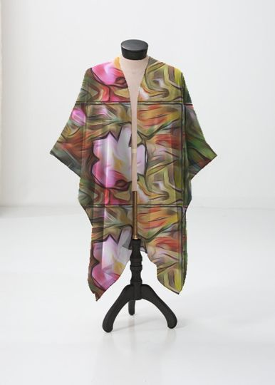 Silk Square Scarf - Mid summer by VIDA VIDA
