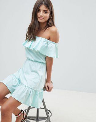 844e79bc0f5b ASOS DESIGN off shoulder sundress with tiered skirt