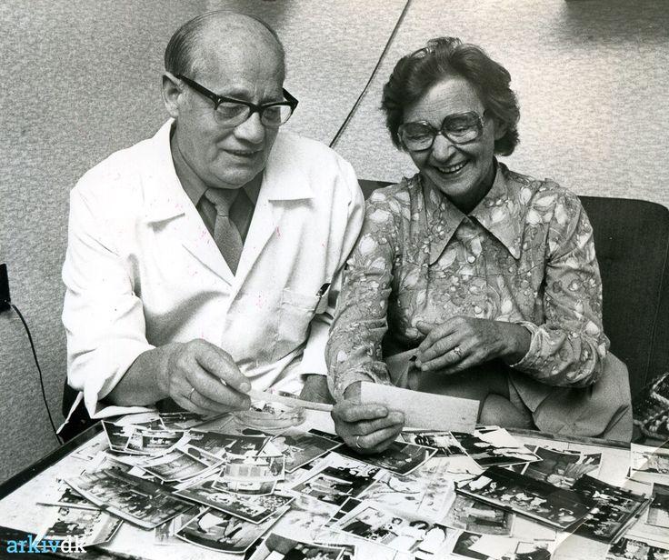arkiv.dk | Billede af Charles og Esther Juul Andersen, Mønsted ca. 1976.
