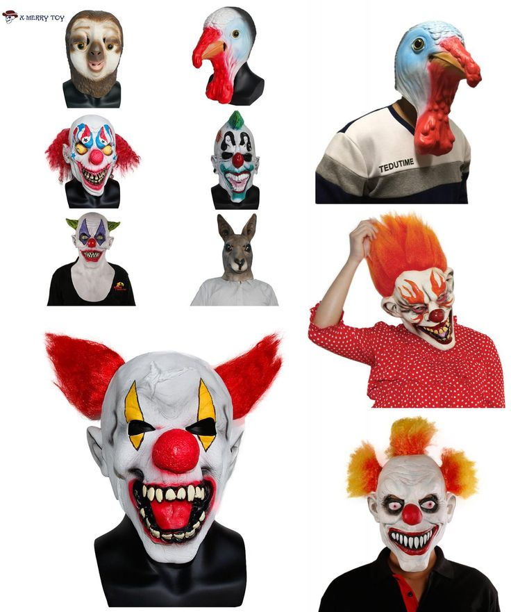 [Visit to Buy] X-MERRY TOY Halloween Festive Party Mask For Sale Full Face Carnival Clown Style Mask Latex Animal Mask #Advertisement