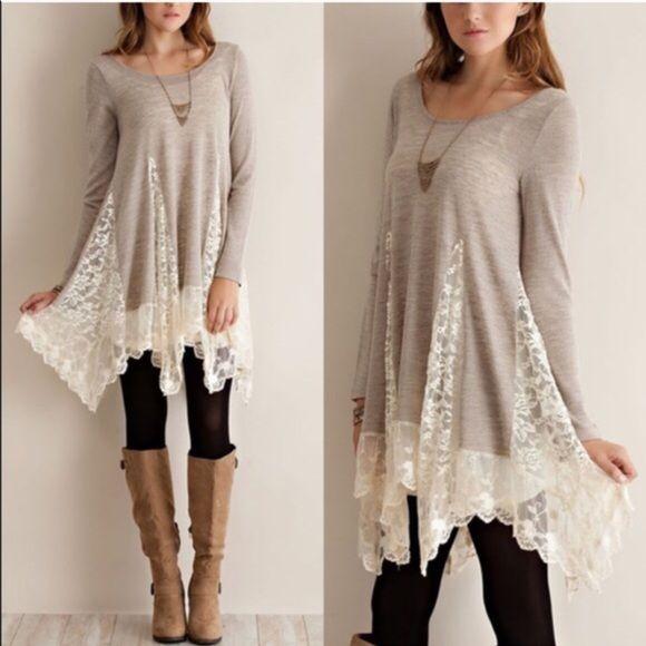 Spotted while shopping on Poshmark: XX The FAITH lace tunic sweater - SAND! #poshmark #fashion #shopping #style #Tops