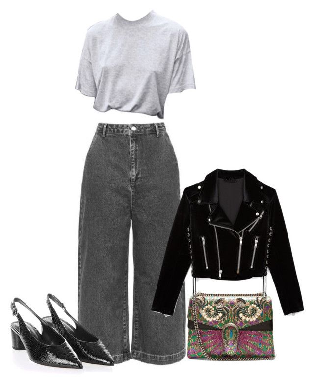 """Untitled #702"" by szudi on Polyvore featuring Topshop, Gucci and The Kooples"