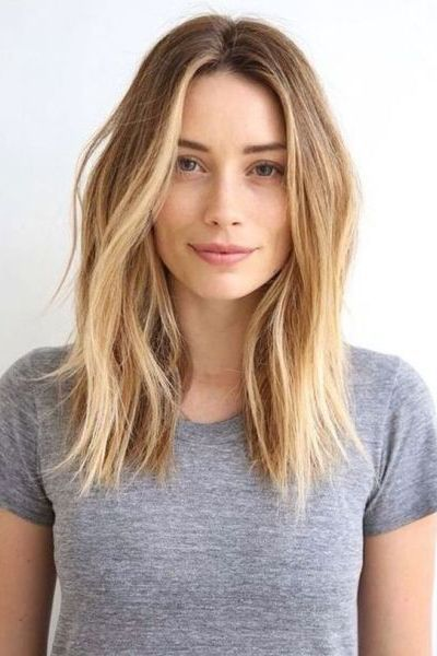 Wavy Shoulder Length Hairstyle for Thin Hair